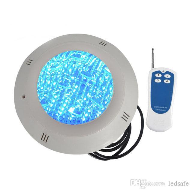 LED 수영장 램프 AC 12V DC12V 표면 수 중 조명 방수 IP68 원격 제어와 함께 18W 24W 35W RGB 조명 색상 흰색