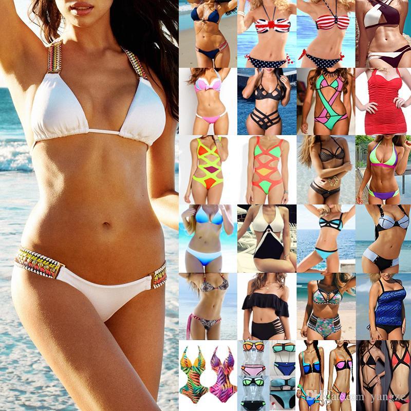Summer Bikini Set Maillots de bain pour femmes Ladies Two Piece Maillot de bain High Out Strappy Maillot de bain Mix Colours Vêtements de haute qualité