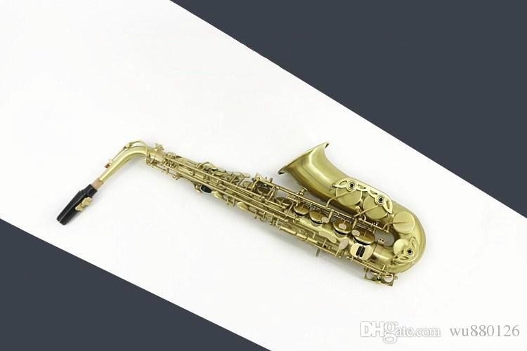 스즈키 Eb 조정 알토 색소폰 골동품 청동 닦았 은색 도금 된 고품질 황동 색소폰 전문 음악 악기 액세서리