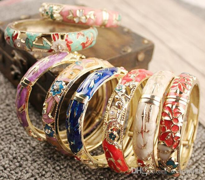12 teile / los Mix Stil Multicolor Legierung Armreif Armbänder Für Frau DIY Modeschmuck Geschenk CR023 Freies Shipp