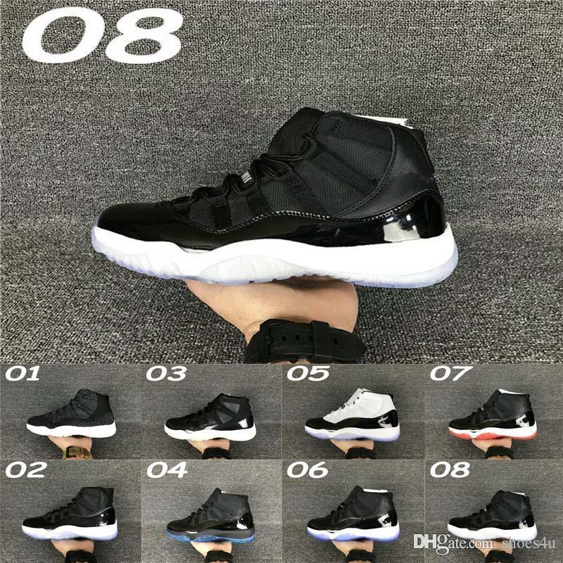 11 bred concord Space Jam Legend gamma blue XI men basketball shoes cheap sneakers 2017 red black Outdoor sports shoes all sizes