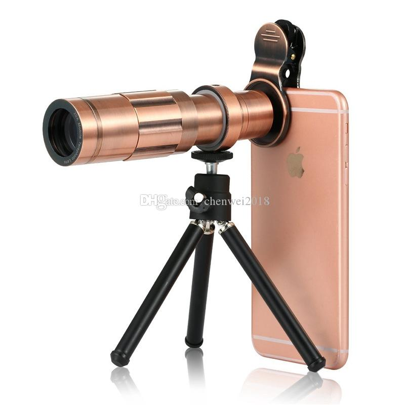 Professional Mobile Phone 20x Zoom Optical Telescope Universal Clip 20X Camera Telephoto Lens For iPhone Samsung Huawei with Tripod