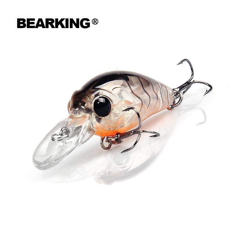 Bearking 5pcs/lot fishing lures, assorted colors, minnow 35mm 3.7g, depth 2.0m professional hot model crank bait minnow popperY1883010