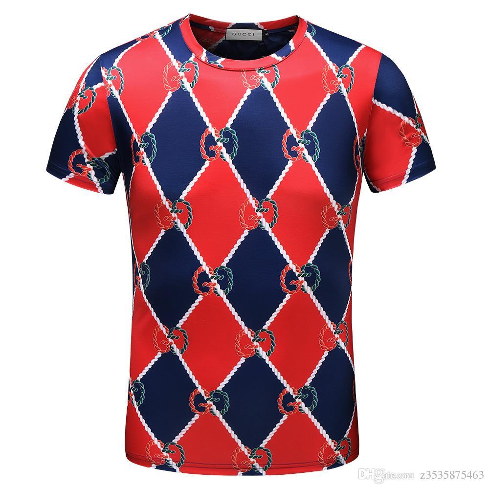 Modemarke 2019 Herren- und Damen-T-Shirts mit amerikanischem Herrenmuster mit Sternmuster für Herren und Damen mit dem neuen Short Delive