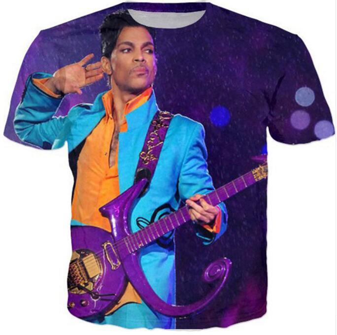 New Fashion 3D Print T-Shirts Uomo / Donna Unisex Purple Rain Funny Casual Tee Top QA302 all'ingrosso