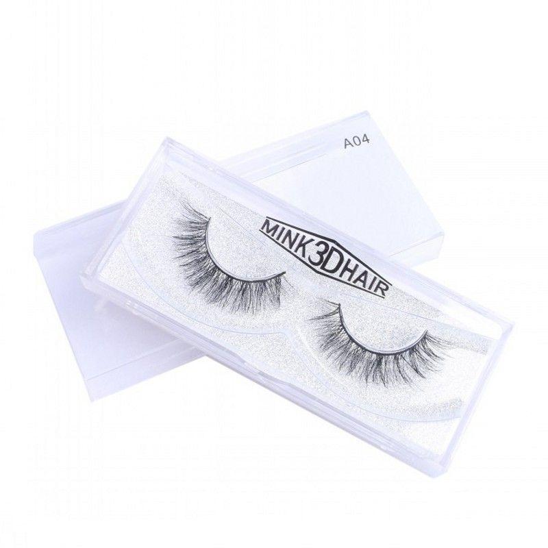 New 19 Styles Mink Hair Eyelashes High Quality 10-16mm 1 Pair Box 100% Real Natural Thick False Eyelashes