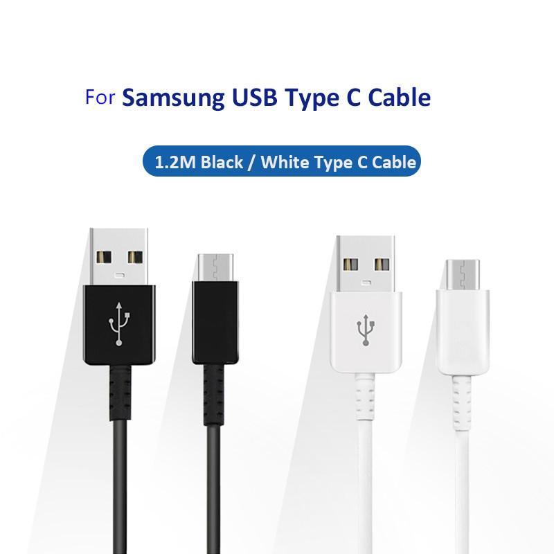 Cavo USB di tipo C di ricarica veloce originale di alta qualità 1,2 metri per Samsung Note 8 S8 S8Plus spedizione gratuita