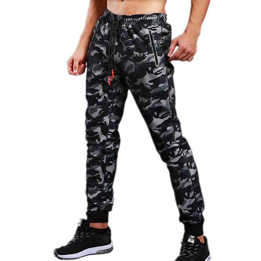 New Summer Fitness Running Sports Tights Men Jogging Skinny Sweatpants Sport Leggings Gym Workout Trousers Jogger Camo Tracksuit