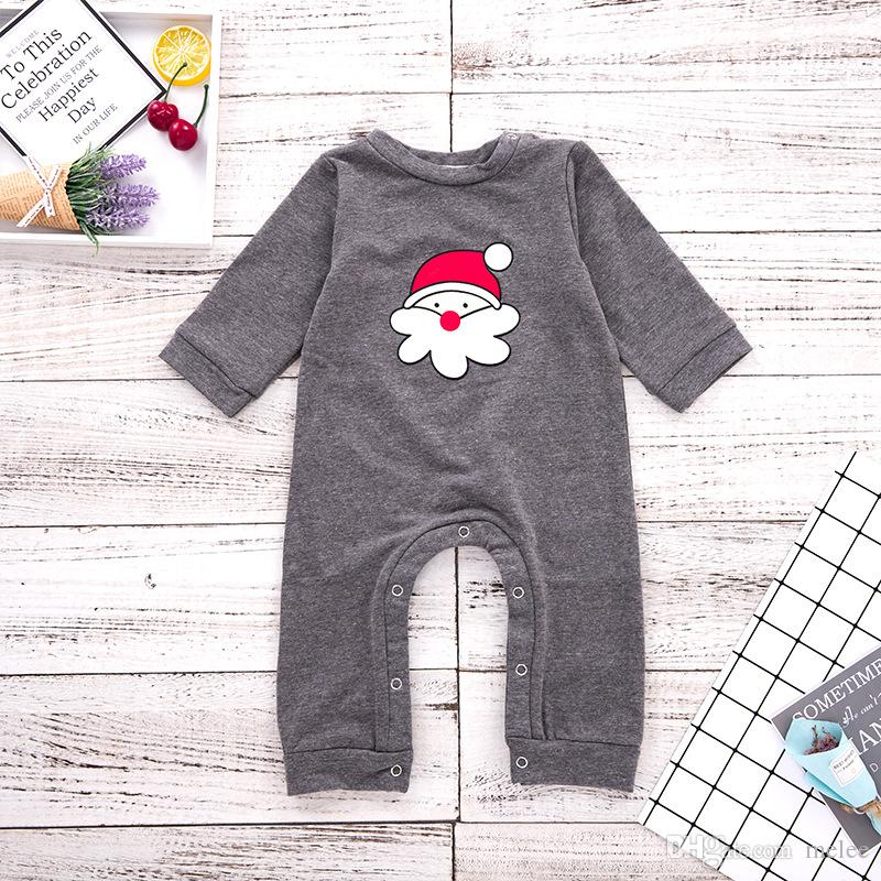 Newborn Toddler Baby Kids Boy Girl Xmas Romper Bodysuit+Pants Clothes Outfit US