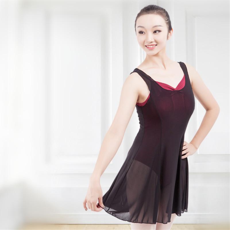 Women Ballet Leotard With Chiffon Skirt Classical Gymnastics Fitness Yoga Female Ballet Dance dance Practice Clothes XC-36006