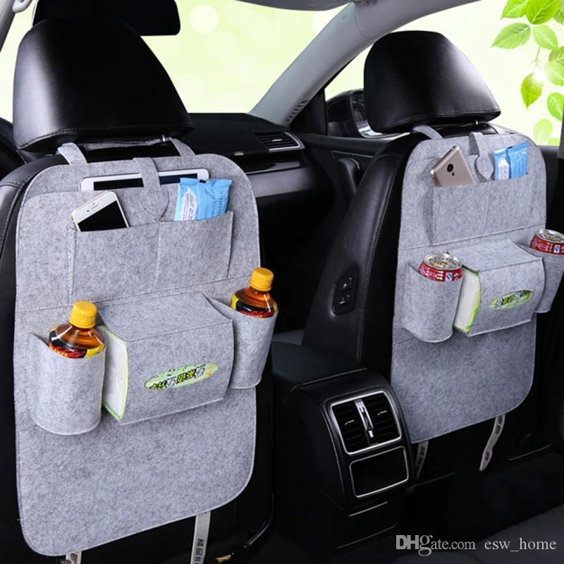 Auto Assento de Carro de Volta Multi-Bolso Titular Organizador Saco De Armazenamento Acessório Multi-Bolso Cabide de Viagem Organizador de Alta Qualidade