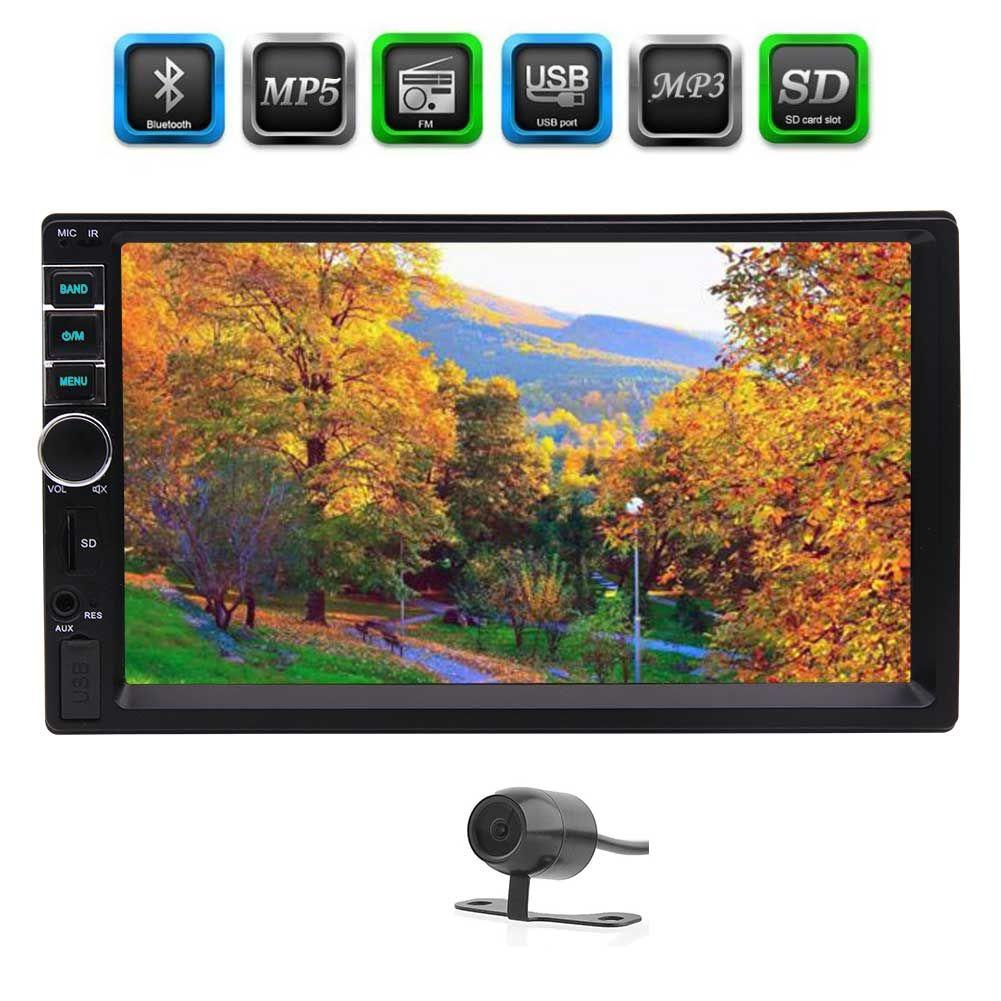 Car Stereo FM Radio Bluetooth 7'' Touchscreen Double din car video Headunit in dash 2Din Car MP5 Player FM/MP3/MP4/USB/SD