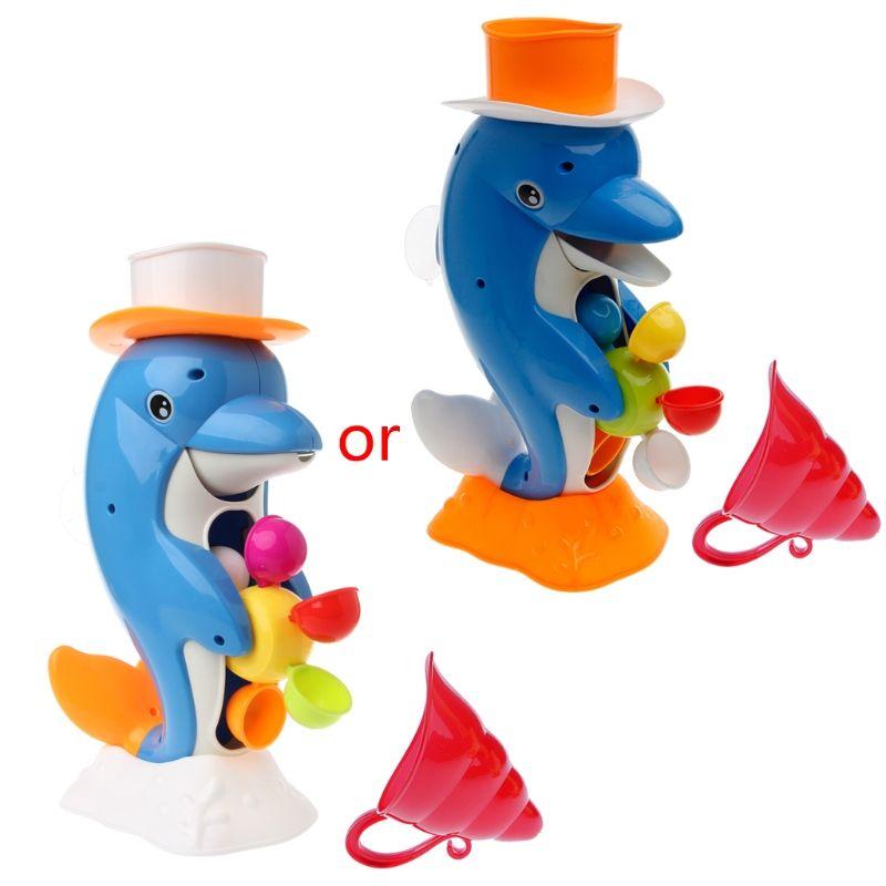 Hot Cute Dolphin Bath Shower Wheel Toy Baby Kids Water Spraying Tool Bathroom Gift Random Color