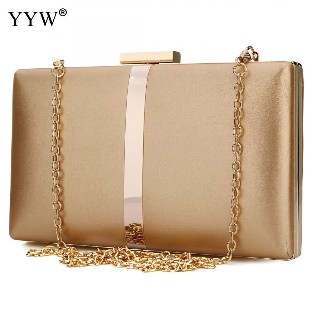 Gold Evening Party Bag Ladies' Handbag Clutch Female Shoulder Bag  Handbags Women Bags Designer Wholesale Womens' Pouch