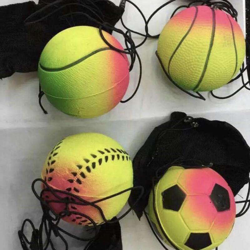المحمولة معصمه رمي لعبة التدريب مرنة ضد الإجهاد لون عشوائي الكرة الرياضية لياقة 63 ملليمتر نطاط الفلورسنت المطاط الكرة DS0340 t03