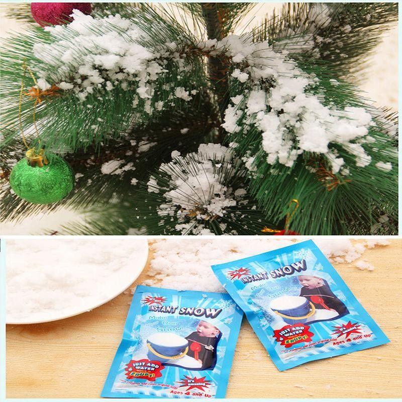 눈 가짜 파우더 인스턴트 스노우 푹신한 슈퍼 Absorbant 인공 눈 매직 크리스마스 장식 파티 장식