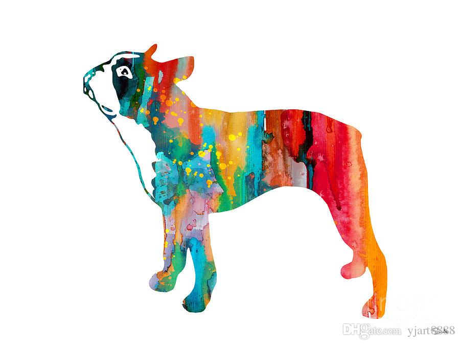 -boston-terrier-art-Unframed Modern Canvas Wall Art for Home and Office Decoration,Painting ,Animal painting ,Frame painting