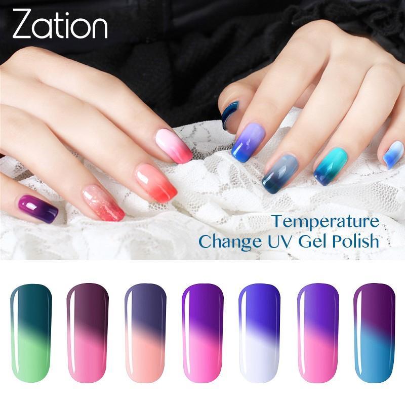 Zation Snowy Thermal Chameleon Nail Art New Arrival 8ML Temperature Change Mood Color Soak Off UV/LED Nail Gel Polish Varnish