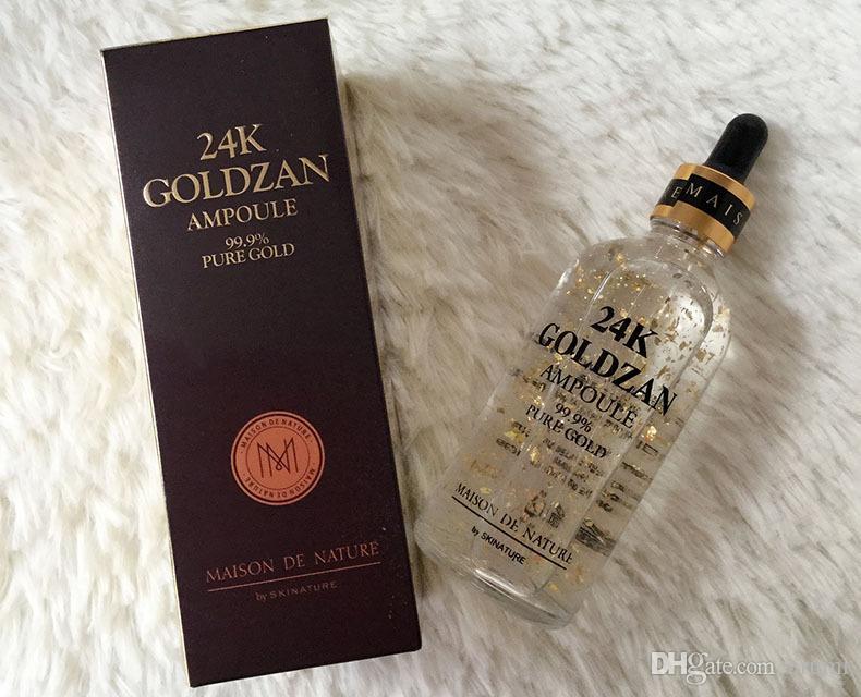 Skinature 24k Goldzan ampolla crema per il viso idratante 24 K oro creme idratanti 24K oro essenza siero nuovo viso cura della pelle