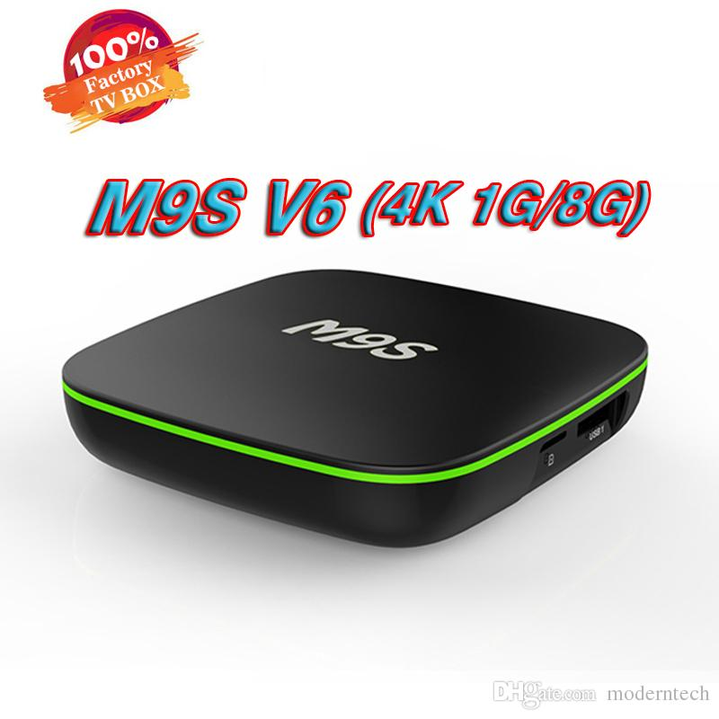 Android 7.1 TV Box Nuevo MXQ pro M9S V6 4K Quad Core 8G / 1G Amlogic RK3229 Smart TV Box soporte WIFI reproductores de medios 3D BET X96 MINI