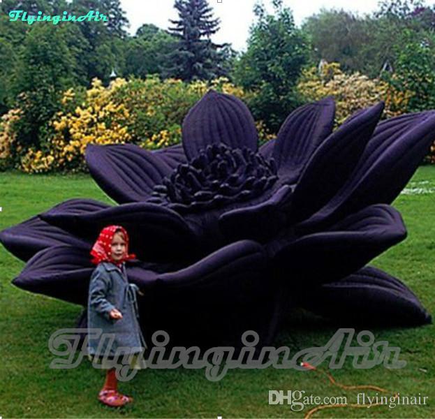 이벤트 장식을위한 4m / 5m 자이언트 장식 풍선 꽃 야외 연꽃