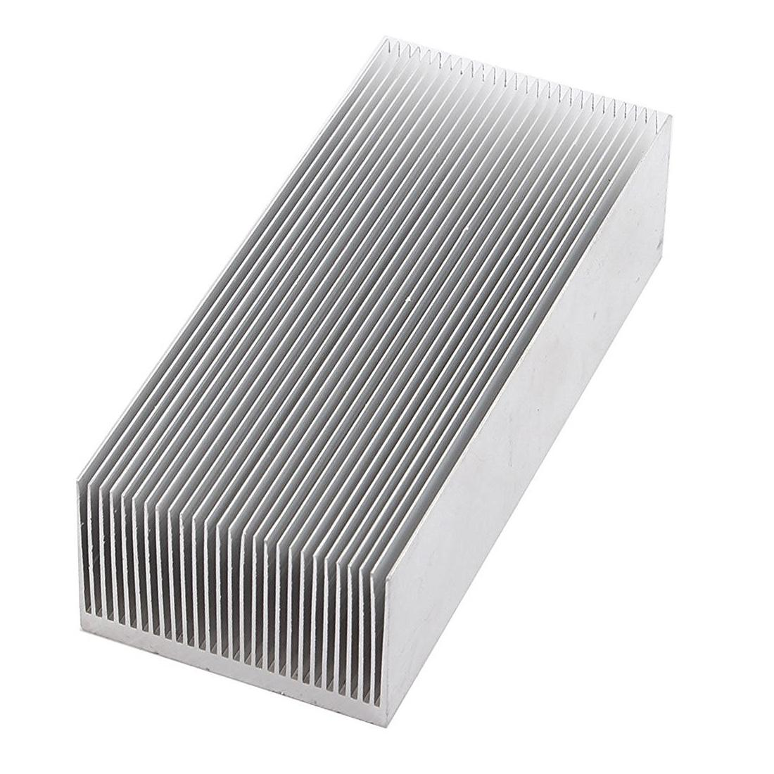 Freeshipping Aluminum Heat Radiator Heatsink Cooling Fin 150x69x37mm Silver Tone