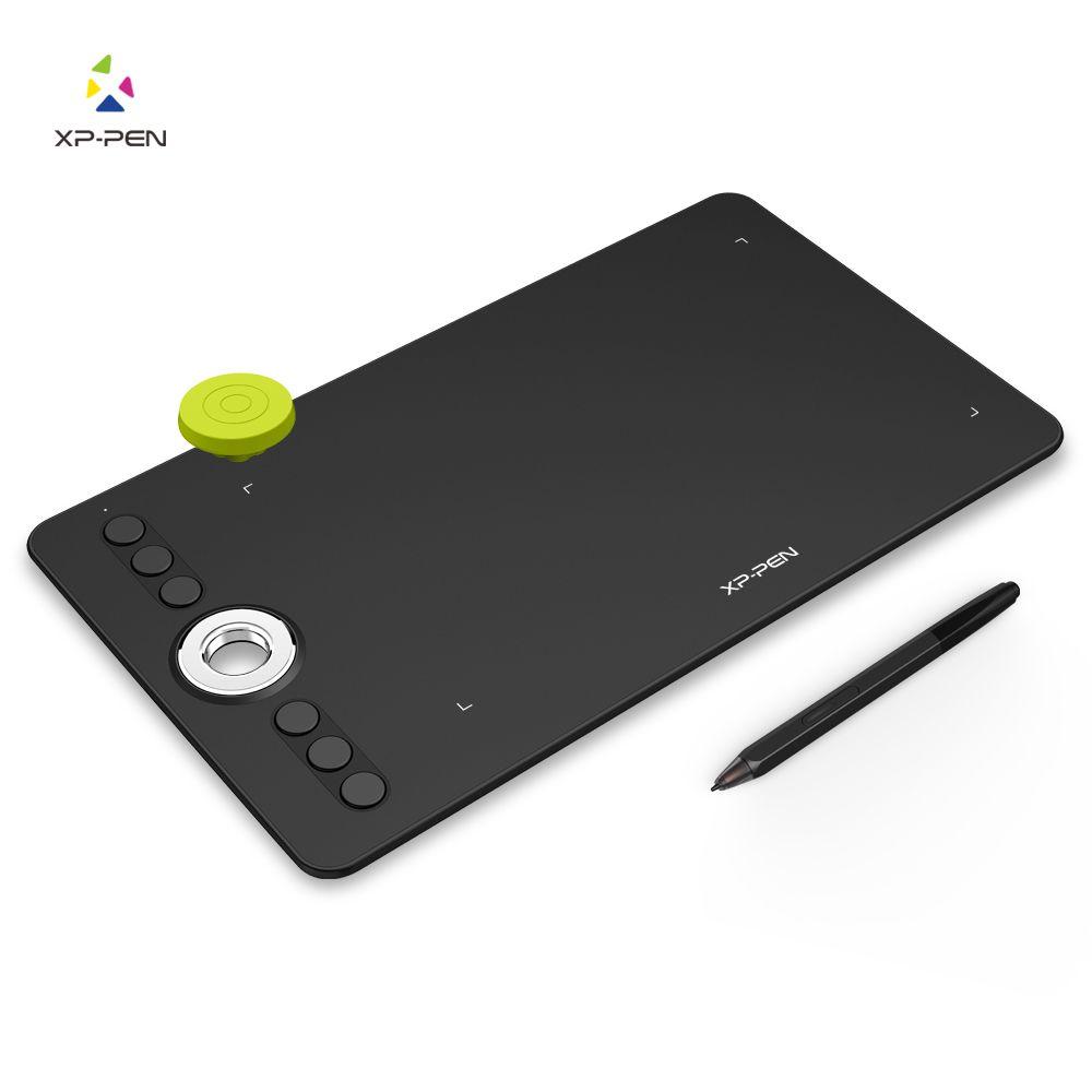 XP-Pen Deco 02 графика графический планшет чертежной доски с батареи без пера и роликовых колеса