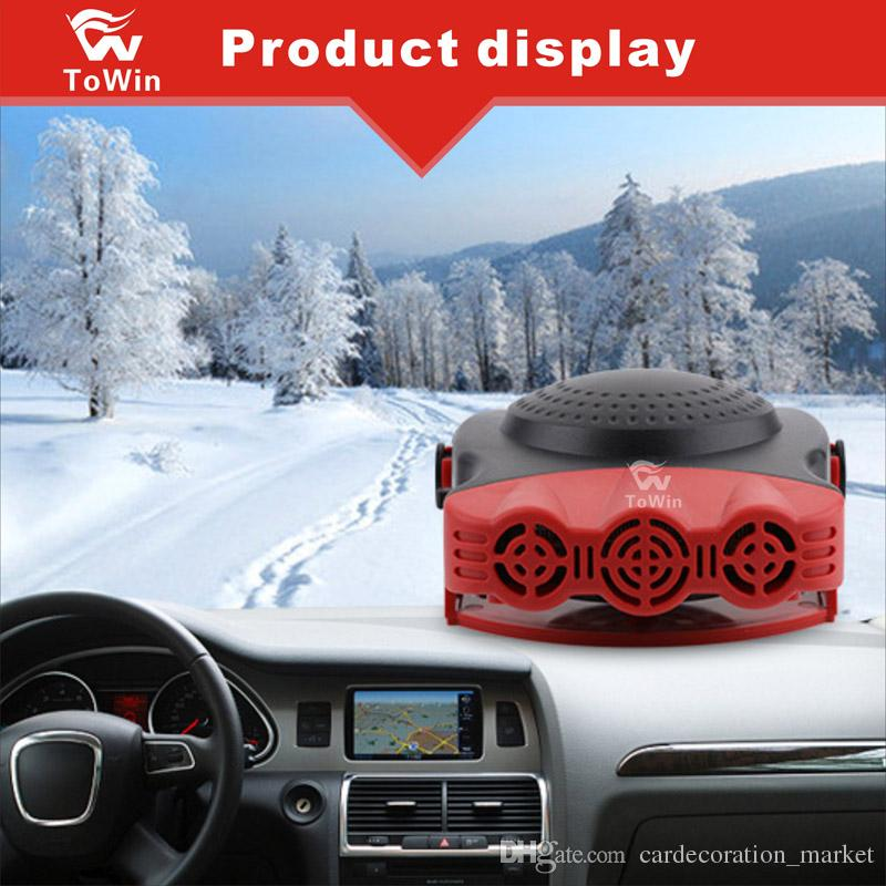 Araba Isıtıcı için Üç Delikli Taşınabilir Araç Cam Isıtıcı, Kolay Kar Kaldırma için Hızlı Isıtma Fanı, Araba Soğutma Fanı, Otomatik Buğu Çözücü