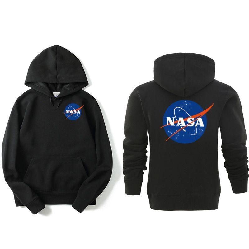 Felpa con cappuccio della NASA Streetwear Moda Hip Hop Nero Grigio Rosa Felpe con cappuccio da donna di alta qualità Felpe con cappuccio da uomo XXL Plus Size