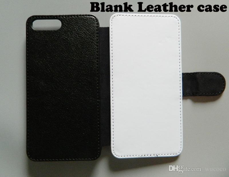 Lederen telefooncase voor iPhone x 5 6 7 8 Plus sublimatie Warmtepers lege behuizing + polyester doek 10 stuks / partij
