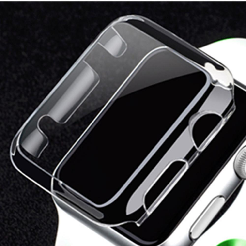 시계 케이스 Apple 시계 케이스 42mm 38mm 시리즈 3 2 1 부드러운 슬림 TPU iWatch 용 울트라 씬 스크린 보호기