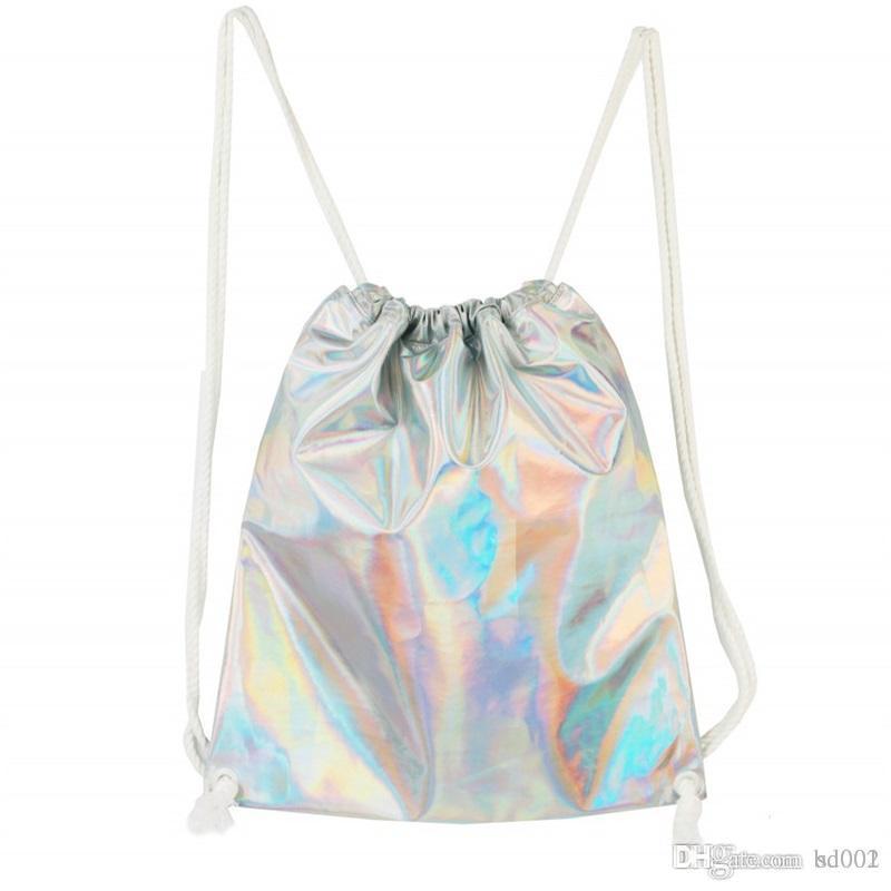 Water Proof Travel Knapsack Creative Design Bright Color Woman Drawstring Bag Outdoors Durable Portable Storage Bundle Pocket 18dj ff