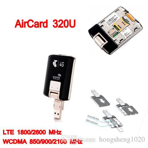 Desbloqueado wifi 4g lte Modem Aircard Sierra 320U 4G LTE Modem cartão WIFI 100 Mbps lte 4g USB Dongle pk E8372 E3131 MF823