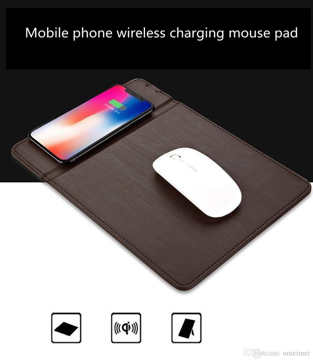 Kablosuz Şarj Mouse Pad, Qi Kablosuz Hızlı Şarj Pad İstasyonu Mat