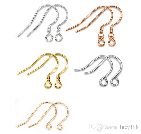 S925 순수 실버 귀고리 후크 귀걸이 귀걸이 액세서리 제품 금 도금 DIY 공예 순수 실버 액세서리 제조 업체 도매 판매