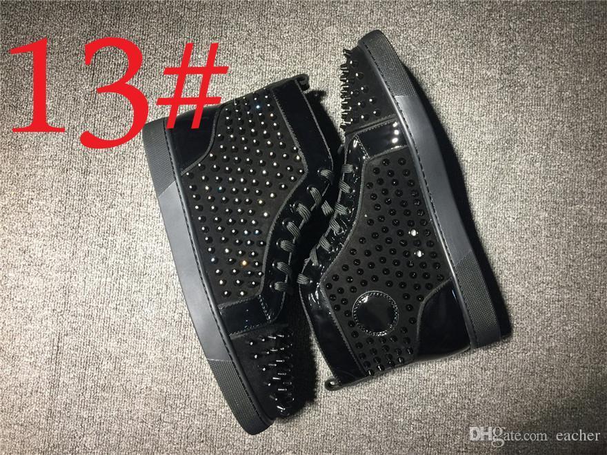 Lüks Kırmızı Alt Vieira Çivili Düşük Üst Spike Kırmızı Tek Spike Slip-On Sneaker Çivili Rollerboat Sneakers Eğitmenler Ayakkabı Düz Ayakkabı 0CL20