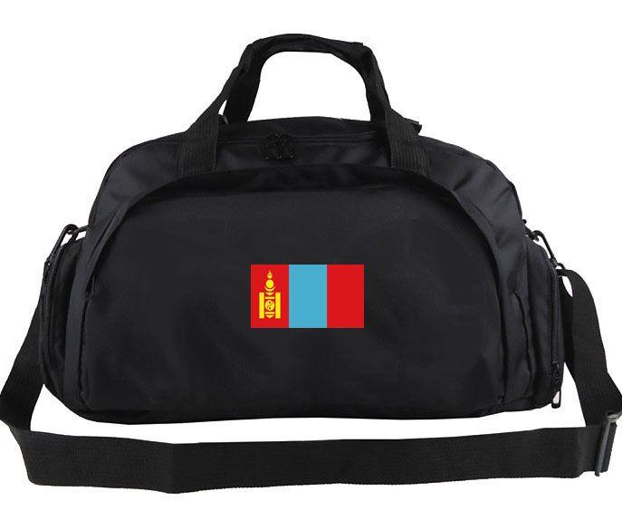 Moğolistan spor çantası Klasik tasarım tote Ülke afiş serin sırt çantası Yeni egzersiz bagaj Spor omuz duffle Bayrak sling paketi