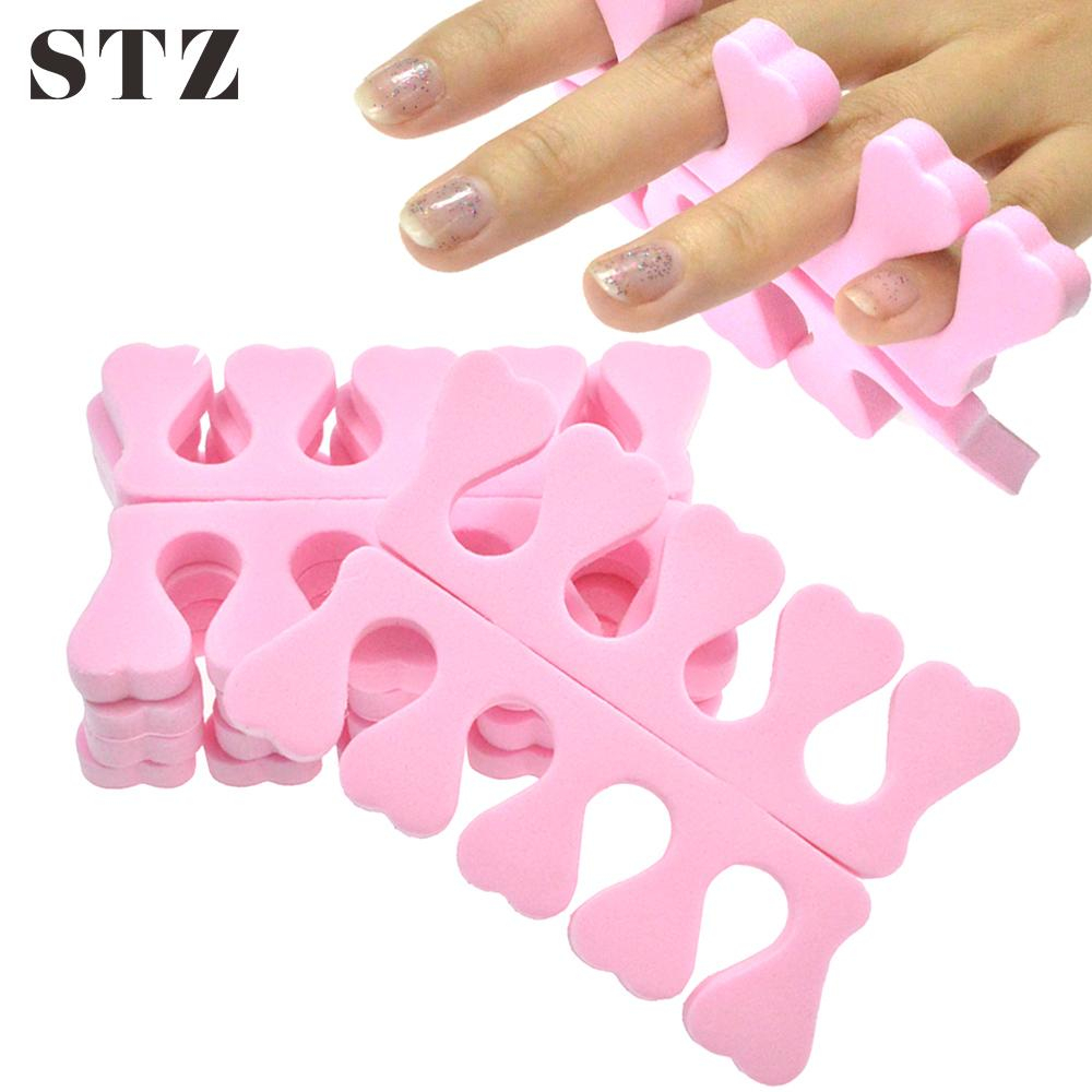 STZ 2pcs Soft Foam Sponge Toe Separators Finger Dividers Nail Art Tools Holder Manicure Pedicure Nail Gel Accessories TR20-1