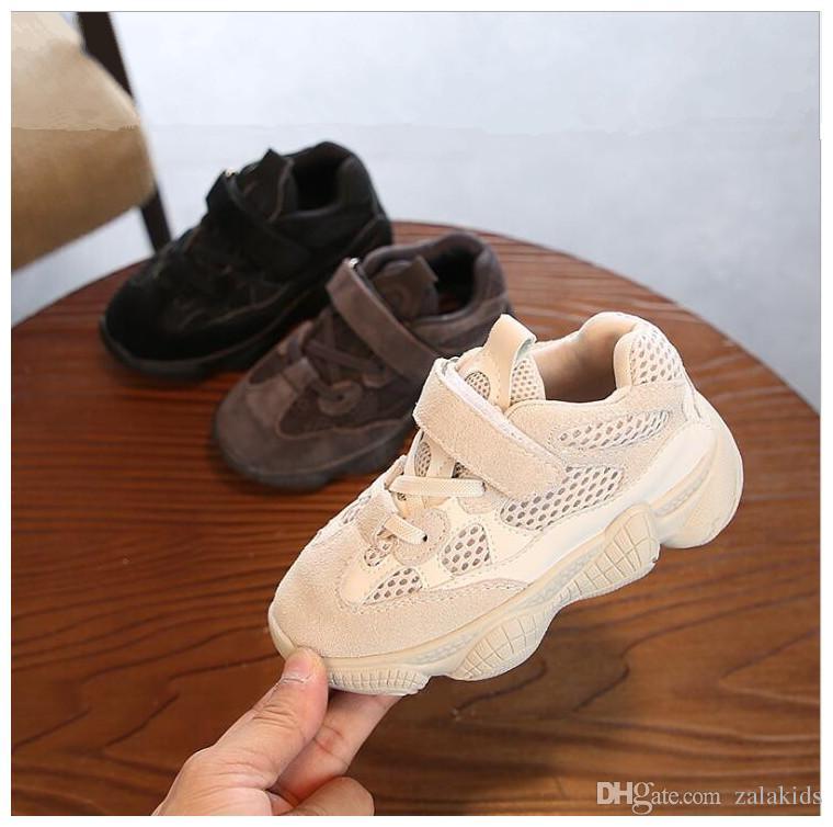 koşu ayakkabıları En Çok Satan Çocuk Nefes Sneakers Bebek Bebek Ayakkabı Gerçek Deri Erkek Çocuklar Ve Kız Moda Günlük Spor