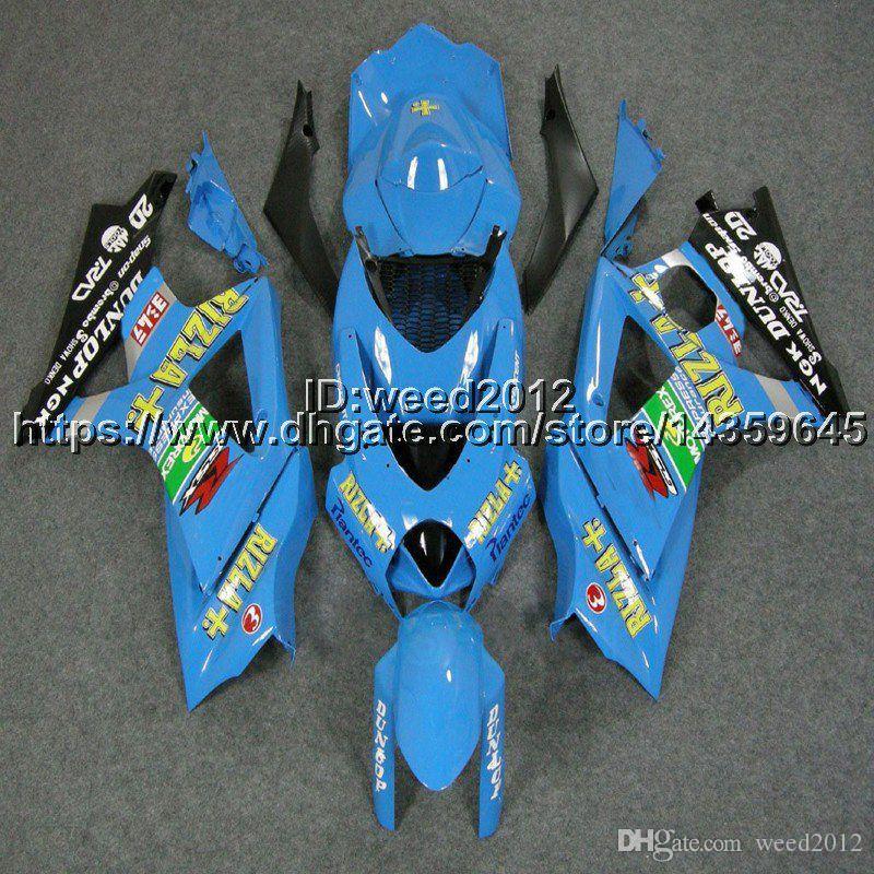 23colors + 5Gifts capot de moto bleu clair pour Suzuki nombreux schéma de peinture K7 GSX-R1000 2007-2008 GSXR 1000 07 08 ABS carénage en plastique