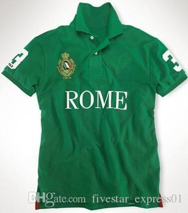 Рубашка Polos Paris Men S-XXL с хлопчатобумажными футболками из поло с поло