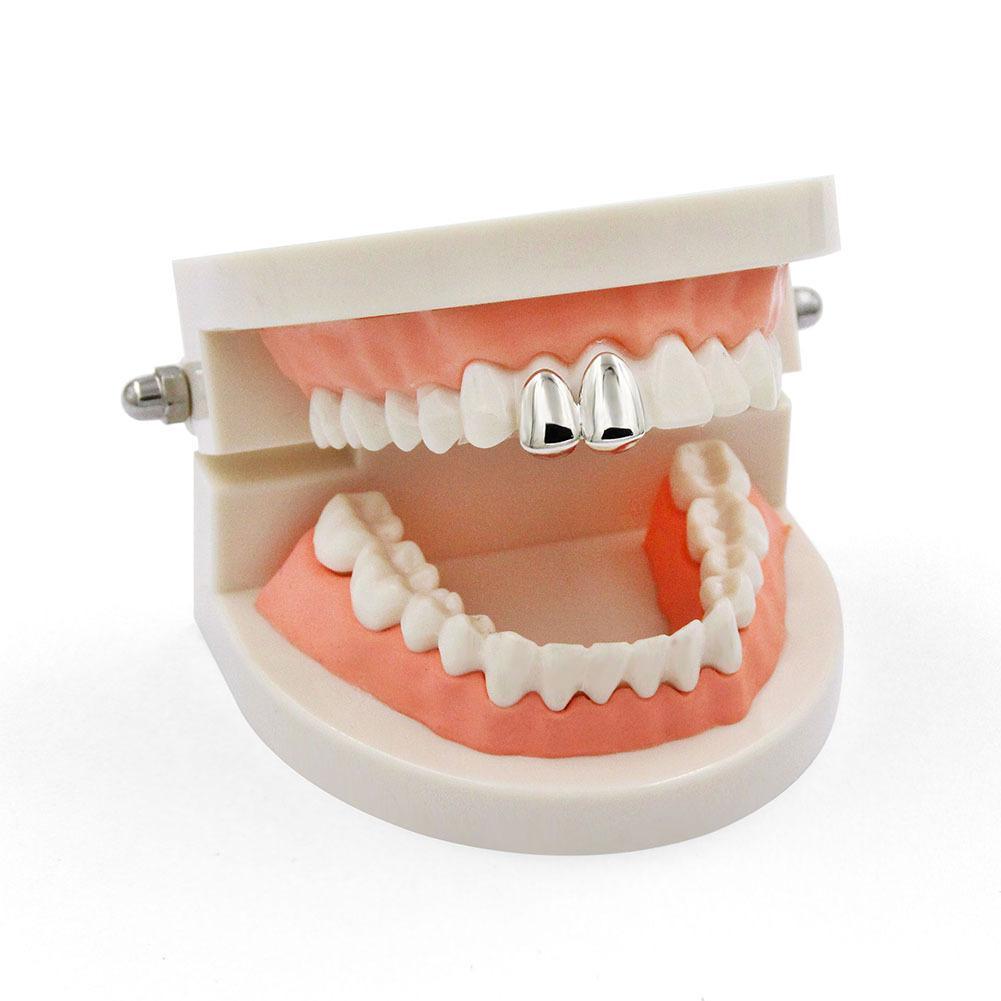 Respetuoso del medio ambiente directo de fábrica Dental Grills hiphop Grillz dientes dientes brackets cobre metal Grillz joyería de alta calidad del cuerpo regalo de Halloween