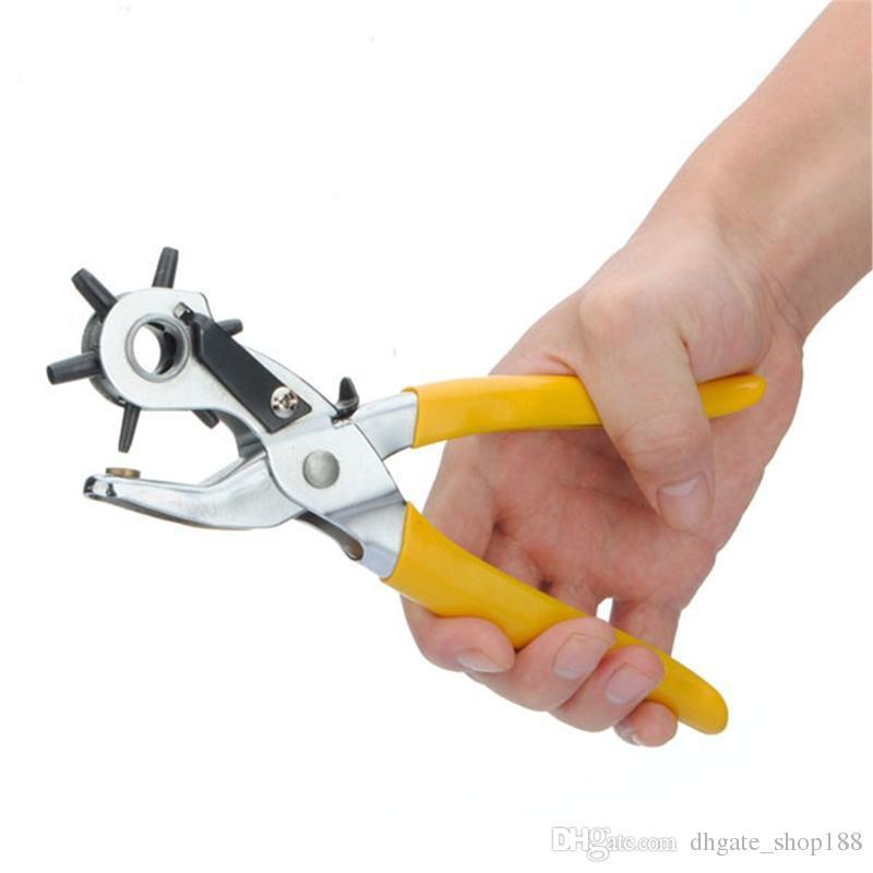 La mejor promoción 6 tamaño correa de cuero giratoria reloj para Band Belt Hole Punch Puncher mano alicates reloj herramienta de reparación