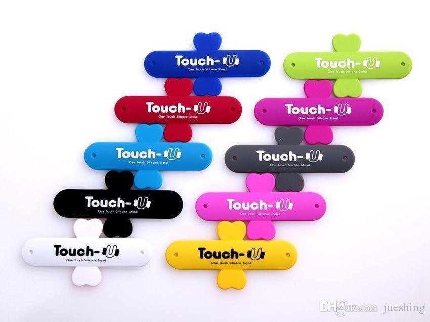 Mini toque u one touch c suporte de silicone anéis de dedo titular do telefone portátil universal para iphone 6 5s 7 samsung tablet pc 1000 pçs / lote