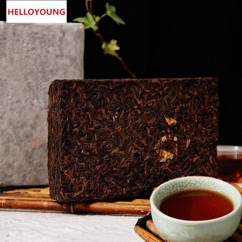Tercih 200g Yunnan Yüksek Kalite Olgun Puer Tuğla Organik Doğal Pu'er Çay Yaşlı Ağaç Pişmiş Pu'er Çay Tuğla Pamuk kağıt ambalaj