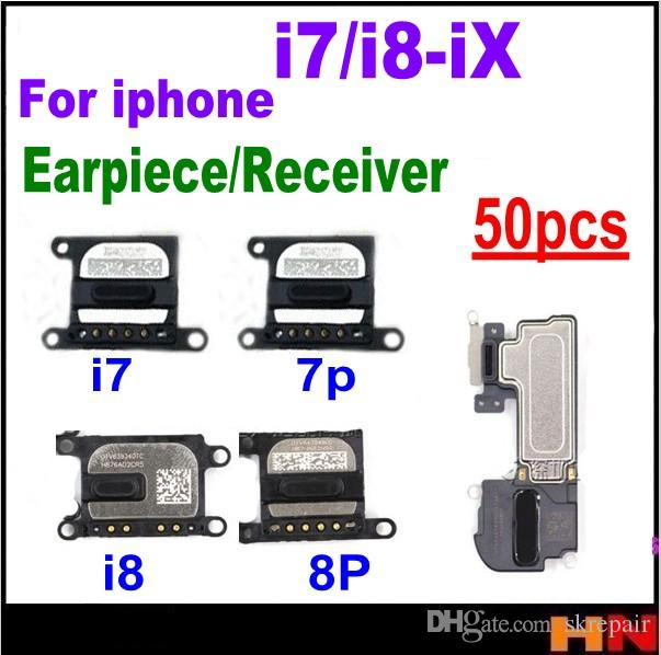 50pcs wholesale For iPhone X 8 8p 7 7P plus Ear Piece Earpiece Speaker Receiver Repair Replacement Parts free shipping