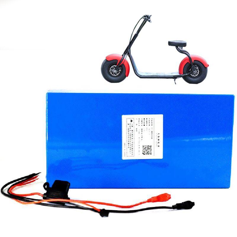 Darmowa Wysyłka do UE 18650 60V 17.5AH LI ION Elektryczna bateria skuterowa dla silnika 1000W / 2000W / 3000W + 30A BMS