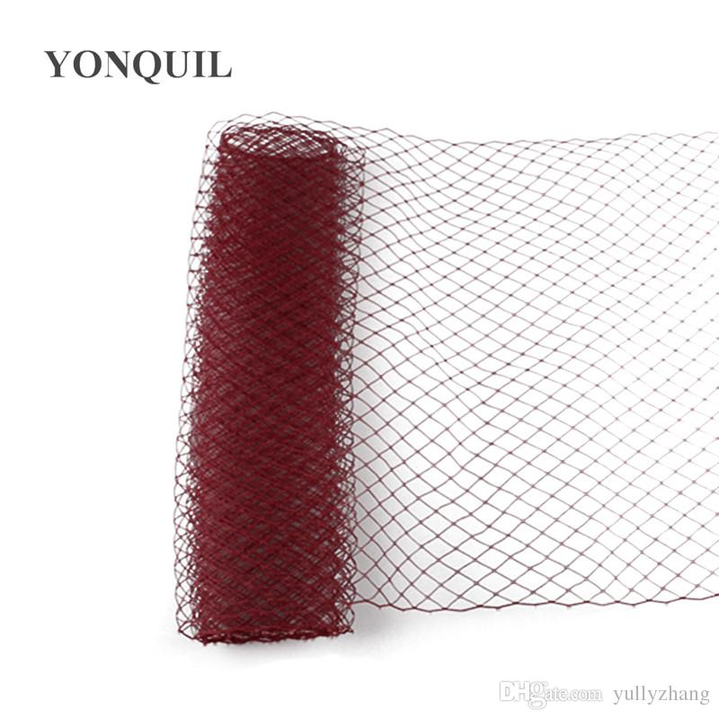 Marron Birdcage Veils 25 CM For women Millinery Hat Mesh Veil fascinator nettings material DIY Hair accessories 10yard/lot free shipping