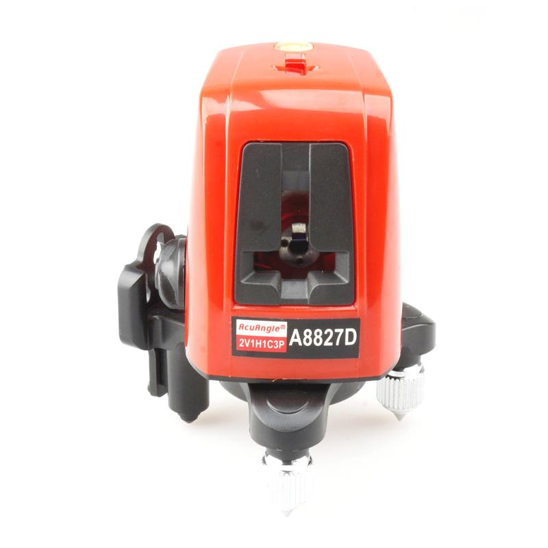 Freeshipping 360 Graus de Auto-nivelamento 3 Linhas 3 Pontos Rotativos Horizontais Vermelhos Verdes Níveis de Laser Cruz Linha Laser + Destaques Do Laser