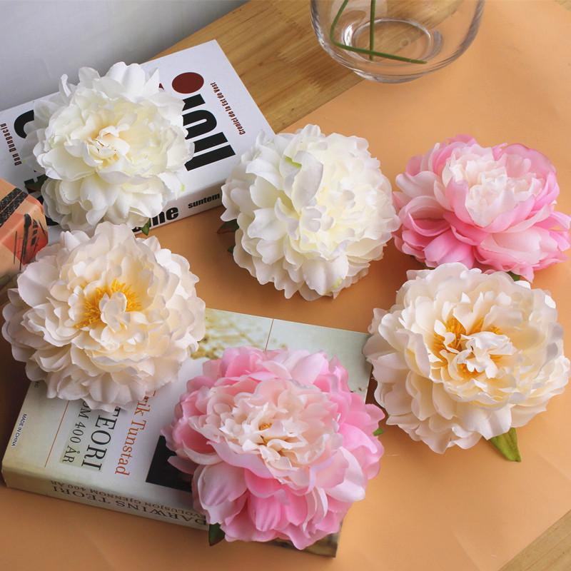Artificial Peony Flower Head Wedding Party Christmas Decoration DIY Silk Flower Wall Background decor Accessories